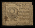 Colonial Notes:Continental Congress Issues, Continental Currency September 26, 1778 $30 Very Good.. ...