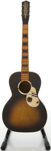 Musical Instruments:Acoustic Guitars, Circa 1950's Old Kraftsman Deco Sunburst Acoustic Guitar....