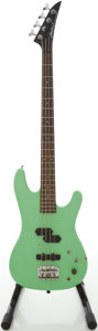 Musical Instruments:Bass Guitars, Early 1980's Aria Pro XRB Surf Green Electric Bass Guitar, #8023037....