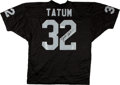 Football Collectibles:Uniforms, Jack Tatum Signed Oakland Raiders Jersey....