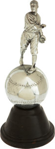 """Baseball Collectibles:Others, 1920's Spalding Figural """"Pitcher"""" Trophy. ..."""