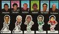 Football Cards:Sets, 1972 NFLPA Vinyl Stickers and Fabric Complete Set Pair (2)....