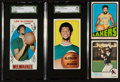 "Basketball Cards:Lots, 1969-1973 Topps Aaron, Chamberlain and Abdul-Jabbar ""Alcindor""Group (4) With Abdul-Jabbar Rookie. ..."