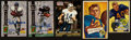 Football Collectibles:Others, Autographed Football Stars & HoFers Card Collection (5). ...