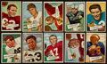 Football Cards:Lots, 1952 Bowman Large Football Collection (24) With Paul Brown Rookie...