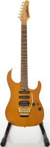 Musical Instruments:Electric Guitars, Washburn MG-700-FAN Amber Solid Body Electric Guitar, #3090385....