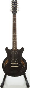 Musical Instruments:Electric Guitars, Dean Black 12-String Semi-Hollow Body Electric Guitar, #E100238....
