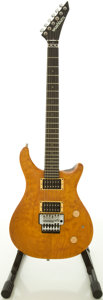 Musical Instruments:Electric Guitars, Washburn RS-10V Amber Solid Body Electric Guitar, #7063494....