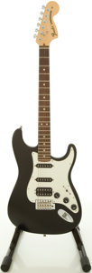 Musical Instruments:Electric Guitars, 2009 Fender Hwy 1 Stratocaster Black Solid Body Electric Guitar,#Z9560349....