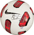 Miscellaneous Collectibles:General, Brandi Chastain Signed Soccer Ball. ...