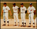 Baseball Collectibles:Photos, Mantle, Mays, DiMaggio and Snider Multi Signed Photograph - NewYork Centerfield Legends....