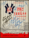 Baseball Collectibles:Publications, 1962 New York Yankees Multi Signed Yearbook....