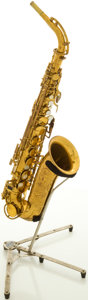 Musical Instruments:Horns & Wind Instruments, Circa 1920's King Cleveland Brass Alto Saxophone, #C-65834....