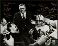 Football Collectibles:Photos, Green Bay Packers Legends Multi Signed Oversized Photograph....