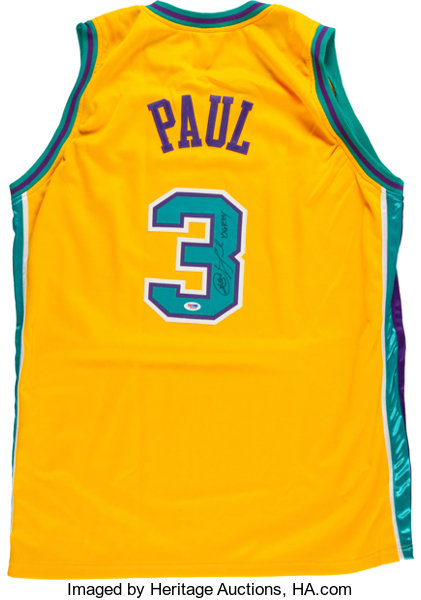 check out 8b01e 53f93 Chris Paul Signed New Orleans Hornets Jersey.... Basketball ...