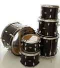 Musical Instruments:Drums & Percussion, Circa 1960's Slingerland Black Drum Set, #409046....