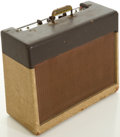 Musical Instruments:Amplifiers, PA, & Effects, Circa 1957 Gibson Two-Tone Guitar Amplifier, #35496....