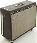 Musical Instruments:Amplifiers, PA, & Effects, Fender Twin Reverb Reissue Blackface Guitar Amplifier,#AC034228....