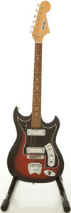 Musical Instruments:Electric Guitars, 1960's Electra Teisco Redburst Solid Body Electric Guitar....