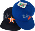 Baseball Collectibles:Hats, Nolan Ryan Signed New York Mets and Houston Astros Caps Lot of2....