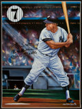 Baseball Collectibles:Others, Mickey Mantle Signed Oversized Print....