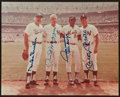 Baseball Collectibles:Photos, Snider, DiMaggio, Mays and Mantle Multi Signed Photograph....
