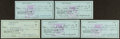 Football Collectibles:Others, Bob Waterfield Signed Checks Lot of 5. ...