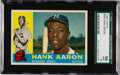Baseball Cards:Singles (1960-1969), 1960 Topps Hank Aaron #300 SGC 96 Mint 9 - Pop One, None Higher!...