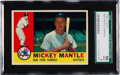 Baseball Cards:Singles (1960-1969), 1960 Topps Mickey Mantle #350 SGC 96 Mint 9 - Pop Four, NoneHigher! ...