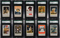 """Non-Sport Cards:Sets, 1943 Associated Oil Co. """"Famous War Posters"""" SGC Graded Collection(17)..."""