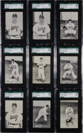 Baseball Cards:Sets, 1952-53 Globe Printing Sioux City Soos Team Issue SGC Graded Near Set (21/29). ...