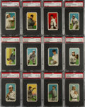 Baseball Cards:Lots, 1909-11 T206 White Borders PSA VG-EX+ 4.5 Collection (55)....