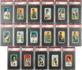 Baseball Cards:Lots, 1909-11 T206 White Borders PSA EX+ 5.5 Collection (17). ...