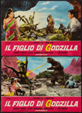 "Movie Posters:Science Fiction, Son of Godzilla (Titanus, 1969). Italian Photobustas (5) (18"" X26.5""). Science Fiction.. ... (Total: 5 Items)"