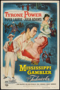 "Movie Posters:Adventure, The Mississippi Gambler (Universal International, 1953). One Sheet(27"" X 41""). Adventure.. ..."