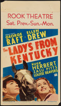 "Movie Posters:Sports, The Lady's from Kentucky (Paramount, 1939). Midget Window Card (8"" X 14""). Sports.. ..."