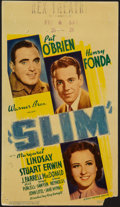 "Movie Posters:Drama, Slim (Warner Brothers, 1937). Midget Window Card (8"" X 14""). Drama.. ..."