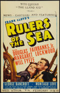 "Movie Posters:Adventure, Rulers of the Sea (Paramount, 1939). Midget Window Card (8"" X12.5""). Adventure.. ..."