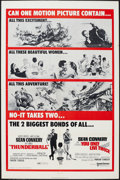 "Movie Posters:James Bond, Thunderball/You Only Live Twice Combo (United Artists, R-1971). One Sheet (27"" X 41""). James Bond.. ..."