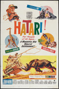 "Movie Posters:Adventure, Hatari! (Paramount, 1962). One Sheet (27"" X 40.5""). Adventure.. ..."