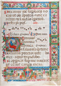 Books:Illuminated Manuscripts, [Illuminated Manuscript]. Illuminated Manuscript featuring a Historiated Initial of King David. [Ferrara, ca. 1480]....