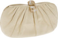Luxury Accessories:Bags, Judith Leiber Beige Lizard Clutch with Crystal Clasp Closure. ...(Total: 2 Items)