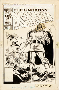John Romita Jr. and Dan Green Uncanny X-Men #197 Doctor Doom Cover Original Art (Marvel, 1985)