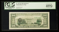 Error Notes:Third Printing on Reverse, Fr. 2073-B $20 1981 Federal Reserve Note. PCGS Extremely Fine 40PPQ.. ...