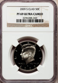 Proof Kennedy Half Dollars, 2009-S 50C Clad PR69 Ultra Cameo NGC. NGC Census: (0/0). PCGSPopulation (2064/161). Numismedia Wsl. Price for problem fre...