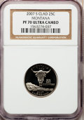 Proof Statehood Quarters, 2007-S 25C Montana Clad PR70 Ultra Cameo NGC. NGC Census: (0). PCGSPopulation (213). Numismedia Wsl. Price for problem fr...