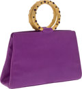Luxury Accessories:Bags, Judith Leiber Bright Purple Leather Bracelet Bag. ... (Total: 2Items)
