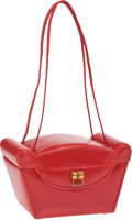 Luxury Accessories:Bags, Judith Leiber Red Lizard Small Bag with Cabochon Closure. ...(Total: 2 Items)