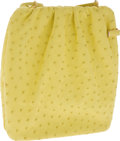 Luxury Accessories:Bags, Judith Leiber Yellow Ostrich Clasp French Purse Bag. ... (Total: 2Items)