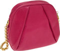 Luxury Accessories:Bags, Judith Leiber Pink Leather Shoulder Bag with Gold Chain Strap. ...(Total: 2 Items)